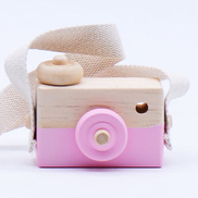 Cute Nordic Hanging Wooden Camera Toys For KidsPink