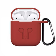 0 Generic Silicone AirPods Case - Red