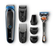Braun MGK3045 Face And Body 7-in-one Multi Grooming Kit - Black Blue + Gillette Fusion ProGlide Manual Razor