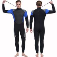 Generic Men's Wetsuit Men Full Suit, Long Sleeve Mens Wetsuit For Scuba Diving Surf Snorkeling, 3mm Neoprene Wet Suit Black Blue1026