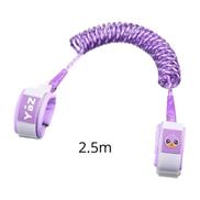 Generic Reflective Safety Harness Wrist Leash Children Kids Rope Wristbands Toddler Baby Anti Lost Safety Braceletpurple 250cm