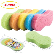 Big Size Car Washing Sponge Vacuum Compressed Auto Paint Care Cleaning Tools Accessories Pack Of 3