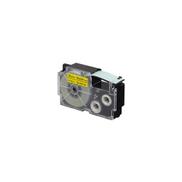 Casio XR-18YW1-W-DJ Black On Yellow Label Tape,18mm