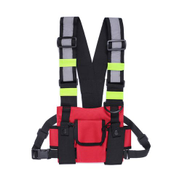 Mens Chest Rig Bag Front Pack Pouch Crossbody Running Backpack Red