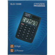 Citizen Sld 100Iii 8 Digit Dual Power Calculator - Black