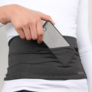 Generic Personal Large-capacity Stretch Tablet Pockets Travel Anti-theft Bag Phone Bag,Size: MGrey