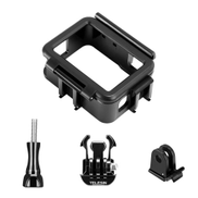 TELESIN Protective Frame Mount Border Housing Case Sport Camera Shell Case With Quick Release Bracket Buckle Thumb Screw Accessories Compatible For GoPro Hero 7 Black 6 5 Action Camera
