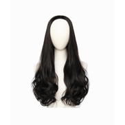 Fashion lovely pop long curly half wigs for ladies black B5027-4