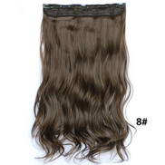 Fashion fluffy long curly Hair Extension Brown 5088-11
