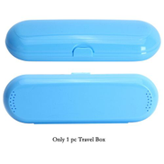 Generic المحمولة فرشاة الأسنان الكهربائية حامل السفر الآمن صندوق في الهواء الطلق فرشاة الأسنان التخييم حقيبة تخزين فرشاة الأسنان صندوق السفر فقط الأزرق