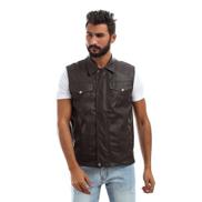 Andora Leather VestBrown