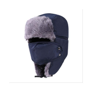 Generic Winter Motorcycle Biker Face Mask Face Shield Moto Bivakmuts Warm Balaclava Windproof Flap Ski Hunting Bomber Hat Face ShieldDark Blue