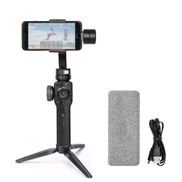 Generic Smooth 4 3-Axis Handheld Brushless Gimbal Portable Stabilizer Integrated Control Panel Camera Mount For Smartphones Action Camera Mobile Filmmakers Black