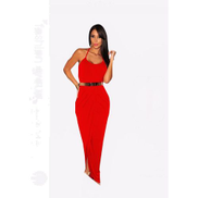 FG Red Fashion Dress Material Butter Heats Medium Size