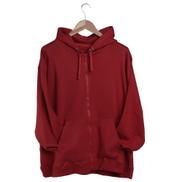 La Marui Hoodie-Jacket, Vislon zipper, front pocket - dark-red
