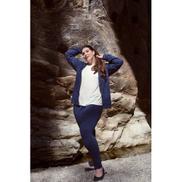 La Marui Hoodie-Jacket, Vislon zipper, front pocket - dark-blue