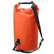 Generic Outdoor Waterproof Double Shoulder Bag Dry Sack PVC Barrel Bag, Capacity: 20L Orange