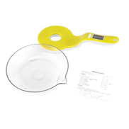 Generic Hand-held Kitchen Electronic Scale 3kg Food Ingredient Scale Intelligent Yellow