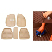 اشتري الآن Generic 3D Car Floor Mats - 5 Pcs - Beige