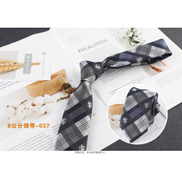 Fashion 6cm Korean Polyester Silk Stripe Business Tie