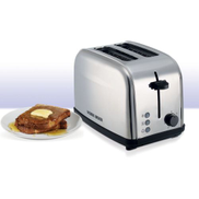 BLACK+DECKER ET222-B5 Stainless Steel 2 Slice Cool Touch Toaster - Silver