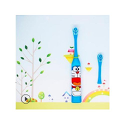 Generic 2 Pcs Head Children Electric Toothbrush Cartoon Pattern Double-sided Tooth Brush Kids Home Cute Soft Hair ToothbrushBlue
