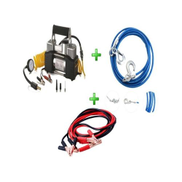 Generic Car Air Compressor - 2 Cylinder + 500A Car Battery Cable + Car Towing Cable