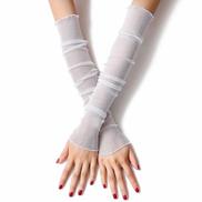 Generic Summer New Thin Mesh Gloves Women Girls Gloves Ice Silk Gloves Sleeve Driving Sun Protection Women Long Arm Glove