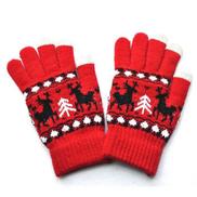 Generic Men Women Christmas Winter Warm Knitted Wapiti Pint Screen Cute Gloves 10.9D