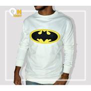 Generic Batman-Long Sleeves Shirt-White