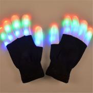 Generic جديد ساخن LED توهج قفاز الهذيان قفازات وامض ضوء الوهج 7 وضع تضيء طرف الإصبع إضاءة حزب التبعي 1 قطعة كما تظهر الصورة