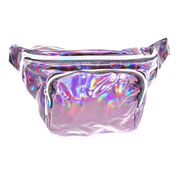 Generic Purple Holographic Waist Bag