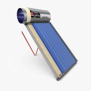 Calpak Mark4 Enameling Solar Water Heater 255.3197.8132.6 Cm 300 L - Silver