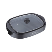 Sonai SH-610 Grill With Glass Cover - Black SH610
