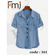 Generic Blue Casual Shirt Cotton Material
