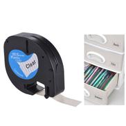Generic Labeling Tape 12267 Plastic Self-Adhesive Refills Black