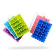 Generic Square Ice Block Mold Of Silica Gel Ice Cube Dark Blue Dark Blue