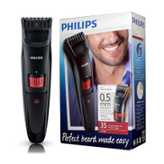 Philips Series 3000 Beard & Stubble Trimmer For Men, Black - QT4015 15 QT401