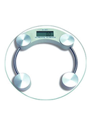 Generic Round Digital Weight Scale Clear Silver