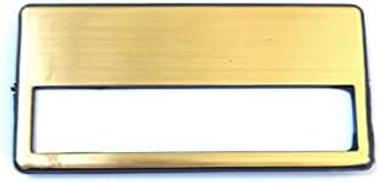 10 Piece Gold Badge Set, Employee Name Card Making - 7x3Cm