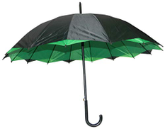 Other Umbrella for protection from sun and rain with automatic opening system - black and green