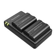RavPower Camera Batteries Charger With Savior Series Battery Set For Sony 2100mAh Black RPPB057 PB057 EL15