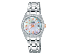 Alba Women's White Dial Stainless Steel Band Watch - AH7F83X AH7F83X1