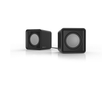 SPEEDLINK SL-810004-BK Twoxo Stereo Compact Cube USB Powered Speakers, black 810004