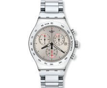 Swatch YVS405GC Stainless Steel Watch - Silver