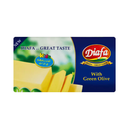 Diafa Cheddar Cheese With Olives - 400 gm