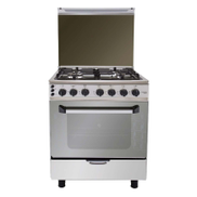 Fresh Plaza Gas Cooker: 4 Burners: Stainless Steel: 60 Cm