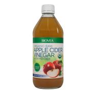 خل التفاح مع الأم الخام - عضوي 16 أونصة 473 مل من BIOVEA