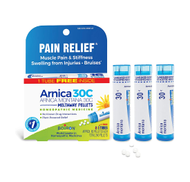 ARNICA MONTANA PAIN RELIEF 30C Natural, Homeopathic 80 Pellets per Tube 3 Tubes by Boiron