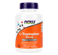 L-TRYPTOPHAN 500mg 120 Vegetarian Capsules by NOW